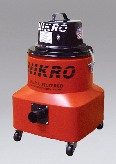 LV10 10 Gallon HEPA Lead Vacuum - 10 Gallon HEPA Lead Vacuum - NIKRO Industries, Inc.