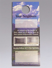 "NIKRO 860438 - Door Knob Hangers ""Your Neighbors"" - Air Duct Cleaning Equipment & Supplies 