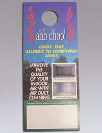 "NIKRO 860439 - Door Knob Hangers ""Achoo"" - Air Duct Cleaning Equipment & Supplies 