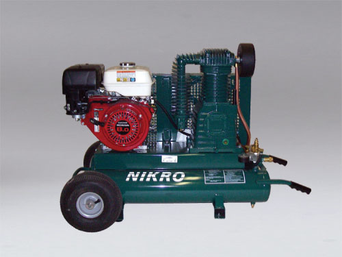 NIKRO 860544 - 9 H.P. Honda 2 Stage, 175 PSI Portable Gasoline Compressor - Air Duct Cleaning Equipment & Supplies 