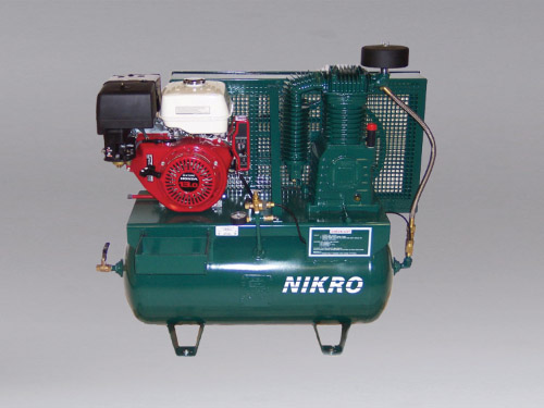 860760 - 13 H.P. Honda 2 Stage, Electric Start, 175 PSI Truck Mount Gasoline Compressor - NIKRO Industries, Inc.