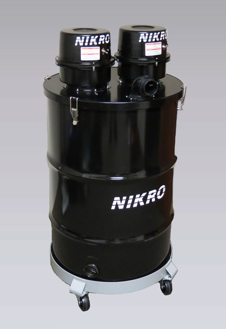 NIKRO DP55DUAL - 55 GALLON DUAL MOTOR WET/DRY VACUUM - Commercial Industrial Vacuums (Without H.E.P.A. Filters)