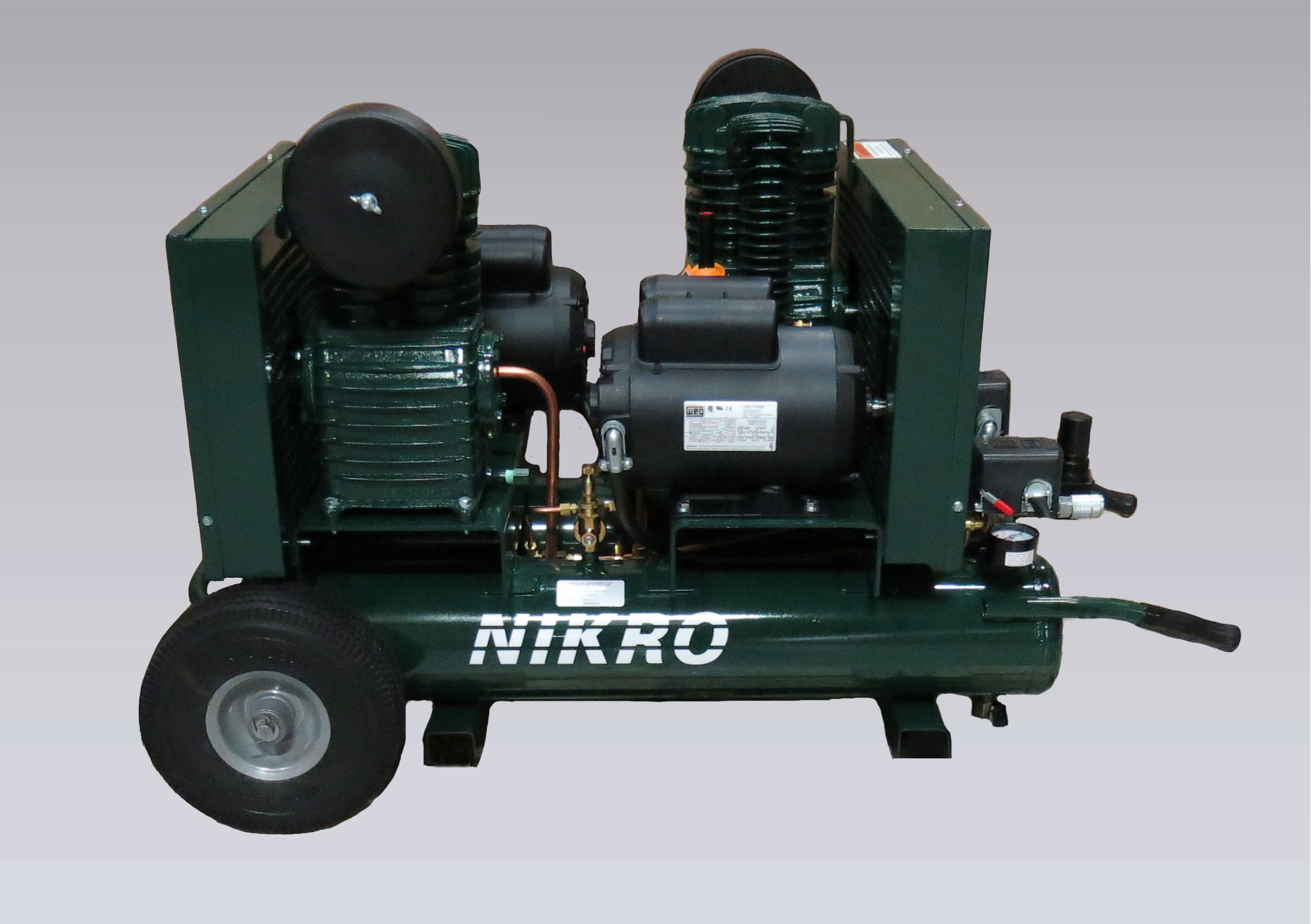 NIKRO 862512 - 115V Dual Motor & Pump Compressor - Air Duct Cleaning Equipment & Supplies 