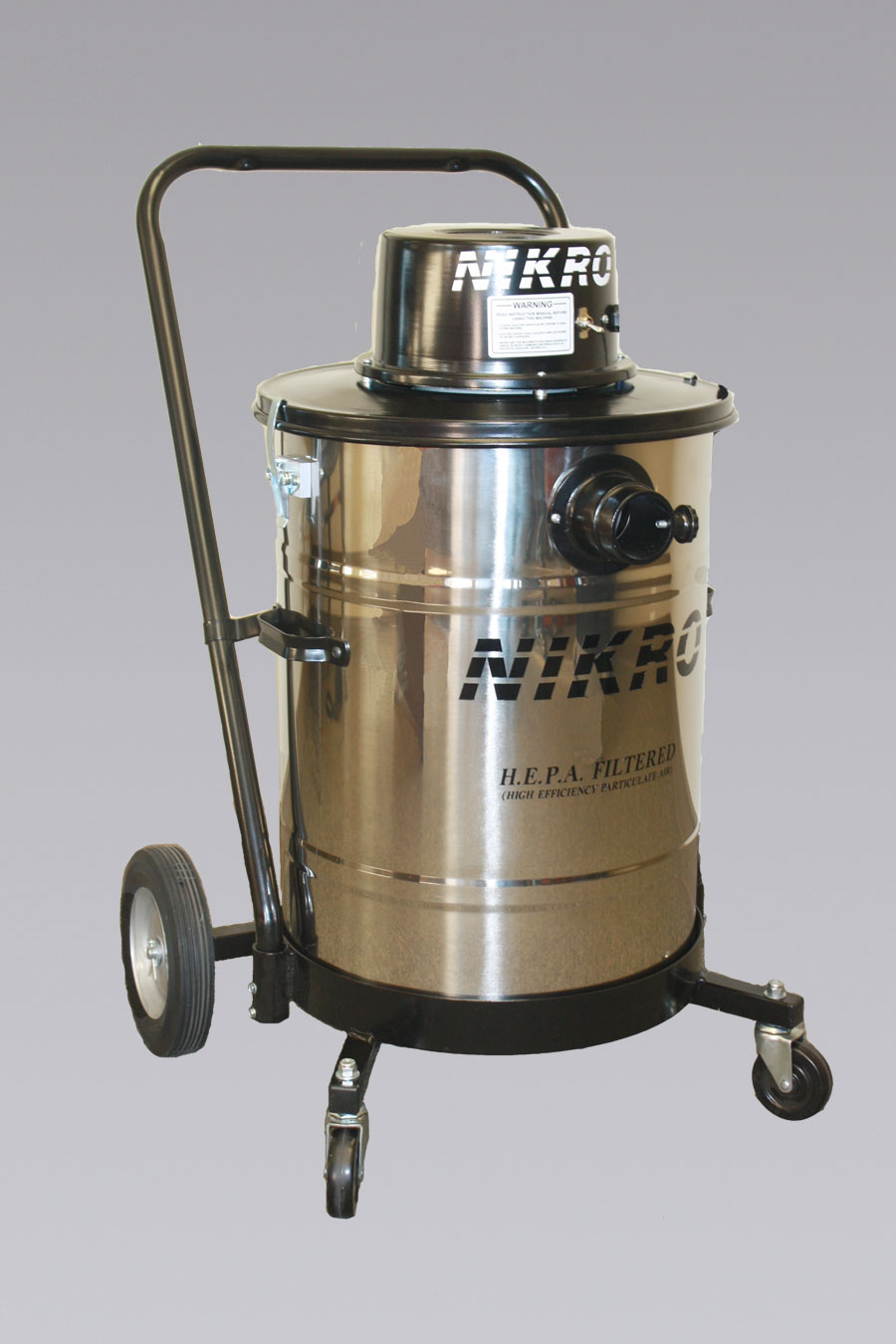 NIKRO HD15110-S - 15 Gallon Stainless Steel HEPA Vacuum (Dry) - H.E.P.A. Filtered Vacuums