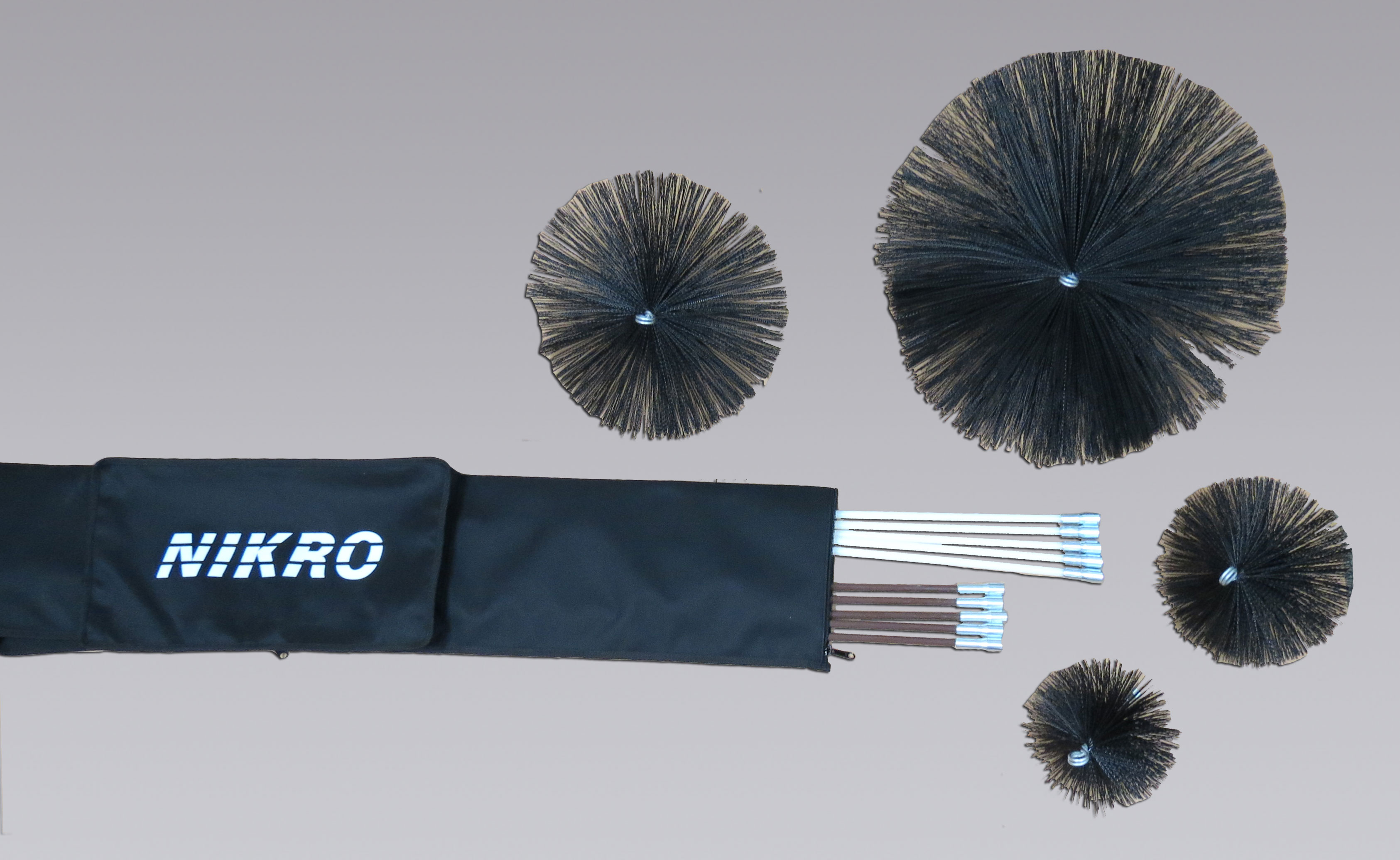 NIKRO 860233 - Manual Brush Kit - Air Duct Cleaning Equipment & Supplies 